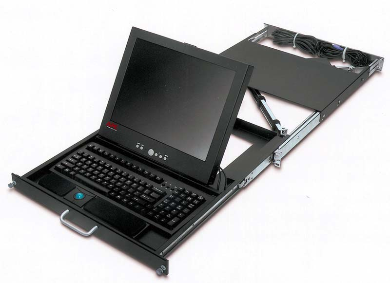 APC、1Uラックに収まる液晶ディスプレイ/キーボード