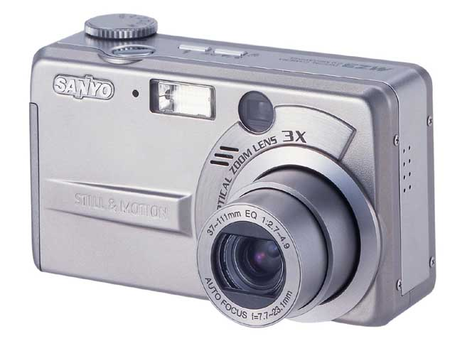 Sanyo DSC-MZ3 - цифровой фотоаппарат, обеспечивающий видео 640х480, 30 fps.