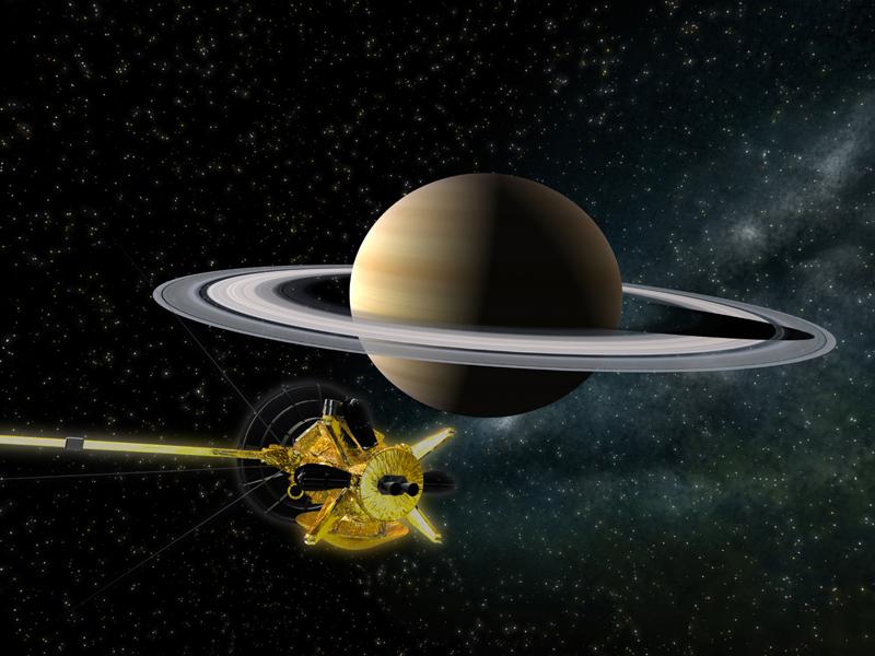 土星と惑星探査機「カッシーニ」 4月27日公開 お台場メディアージュ5Fにある「ソニー・エクスプ