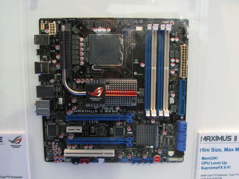 P55マザーボードが計7製品。 CeBIT 2009レポート【Intel