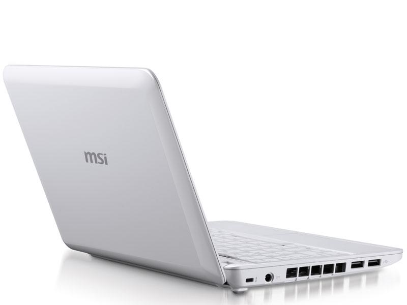 MSI、Atom N280搭載の新ネットブック「U123」