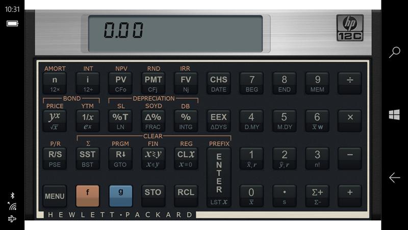Hp 12c Financial Calculator For X3 横位置