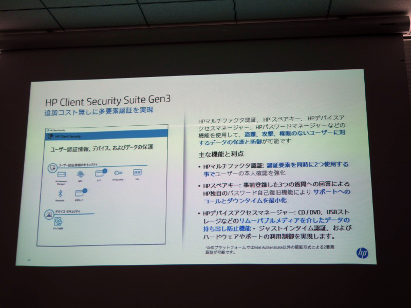 2段階認証を実現するHP Client Security Suite Gen3