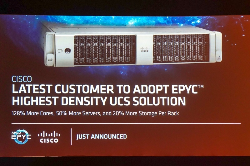 CiscoがEPYCベースのCisco USC (Cisco Unified Computing System)を先週発表