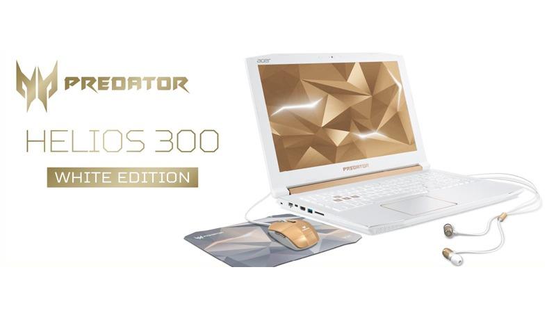 日本エイサー 30台限定の predator helios 300 ホワイト ゴールド