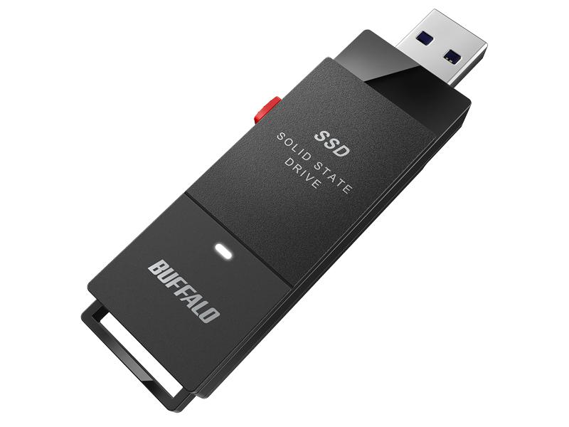 バッファローのUSBメモリ型SSD「SSD-PUTA」