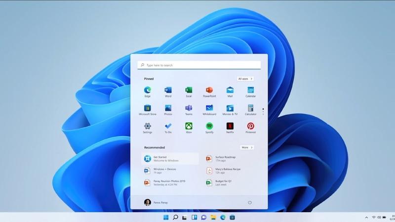 開発コードネーム「Sun Valley」で開発されてきたWindows 11の画面