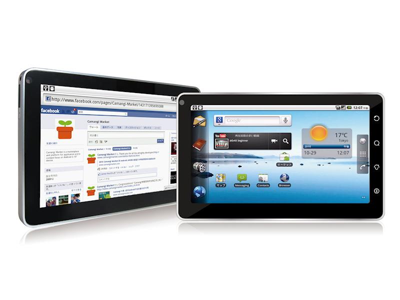 cedfa6c5ca Camangi、SIMロックフリーの3G対応7型Android 2.2タブレット - PC Watch