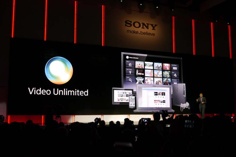 HD動画配信サービス「Video Unlimited」、BRAVIAやSony Tablet、PlayStation 3などさまざまな機器で楽しめる