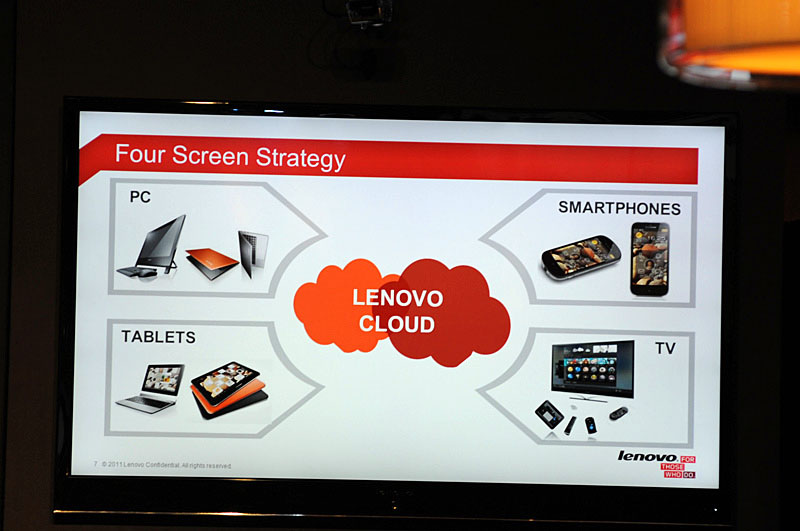 Lenovoの会長兼CEOのYang Yuanqing氏が説明する「Four Screen Strategy」