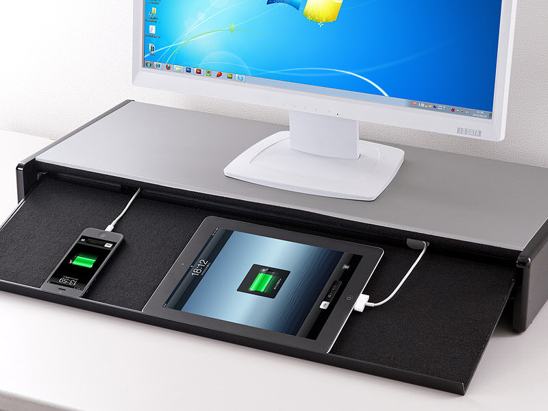 03 Turn your tablet into a big boy computer with Sanwas tablet storing display stand