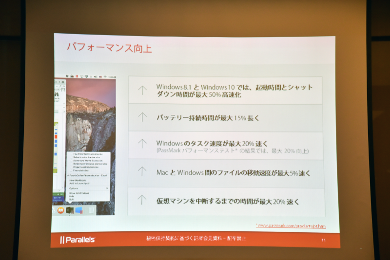 Parallels Desktop 11 for Macの主な強化点