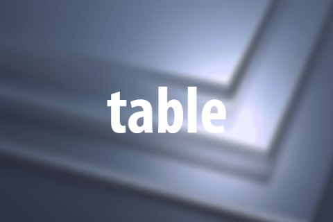 Html5 table caption tr td th thead tbody for Table th tbody