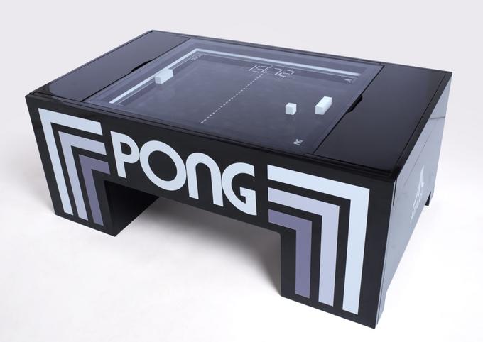 【やじうまPC Watch】 Atariの卓球ゲーム「PONG」を再現したコーヒーテーブル、Kickstarterに登場
