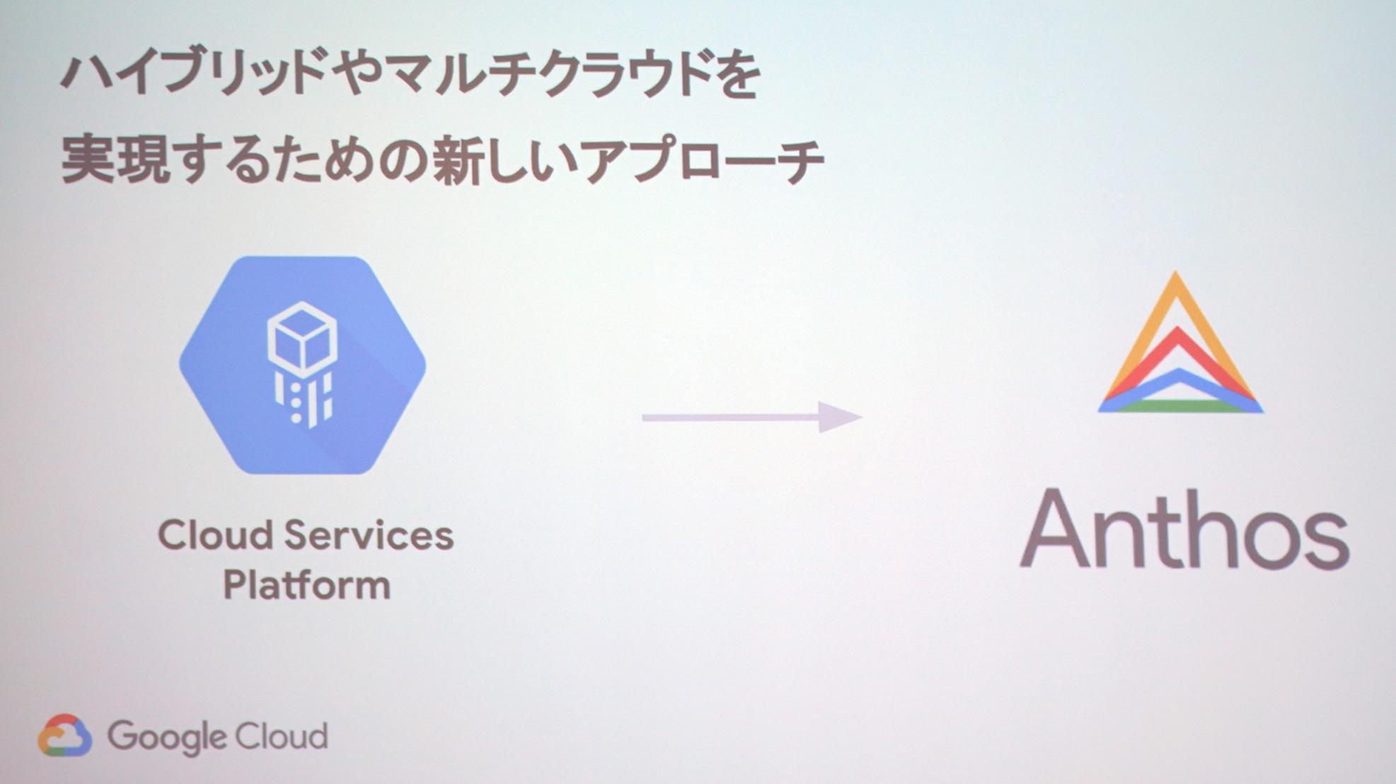 Google、ハイブリッドクラウド「Anthos」でAWSやAzureを統合可能に